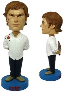 Dexter Booble Head, knife behind the back